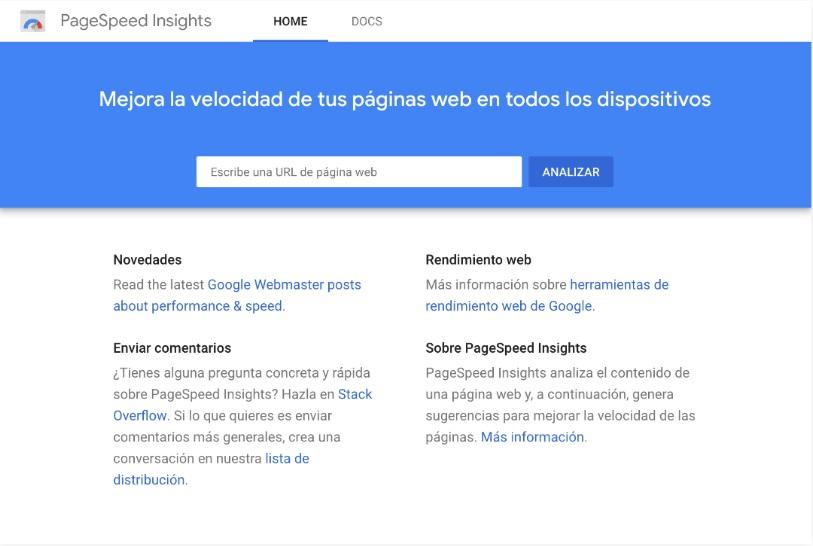 Utilizar Google PageSpeed Insights es muy sencillo