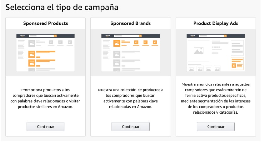 Campañas en Amazon Ads