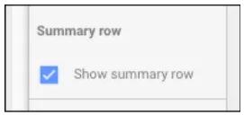 Summary Row