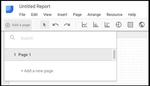 Creación de páginas Data Studio