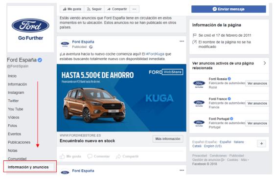 Facebook-Anuncios-Informacion-7 herramientas para analizar a tu competencia de SE - Google Docs