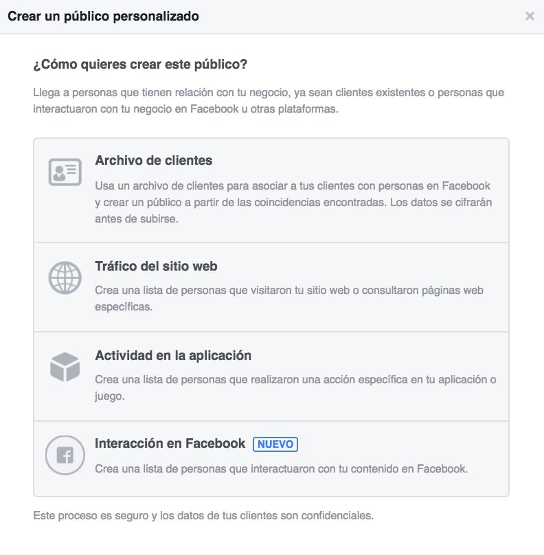 Custom Audiences Facebook