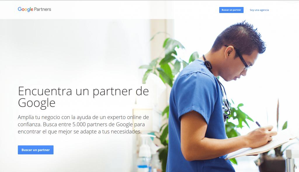 Startpagina van Google partners