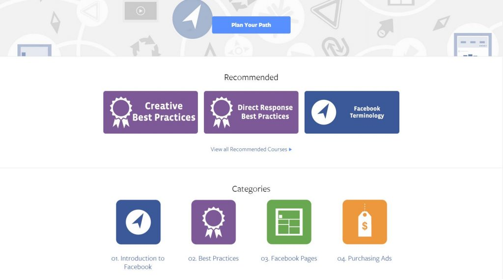 Facebook Blueprint Planning Your Path