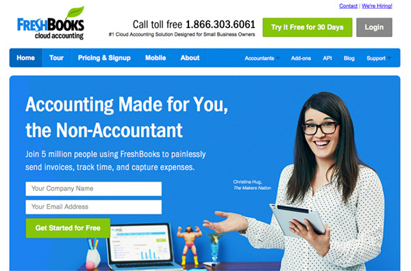Landing Page Example Design