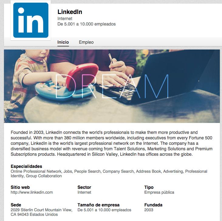 Linkedin's good profile for doing business