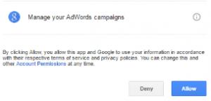Permisos API AdWords