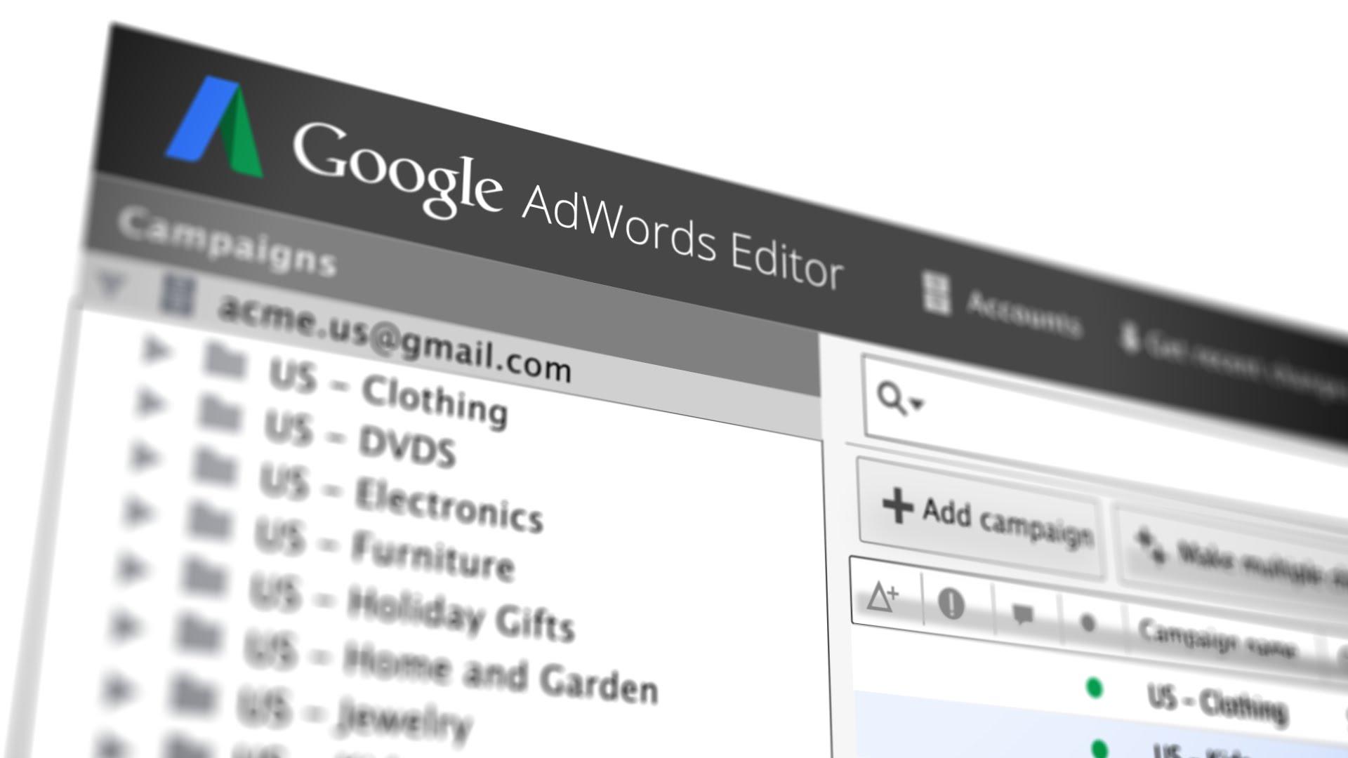 Editor Google Adwords