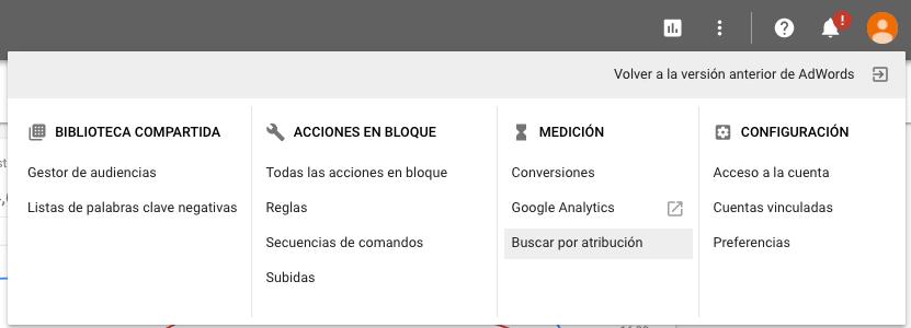 AdWords attributie rapporten