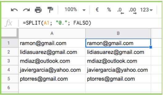 """SPLIT-functie met """"FALSE""""-kenmerk"""