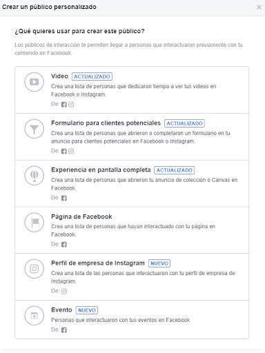 publicos interacción con contenido de facebook