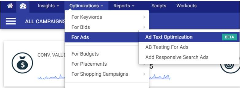 Ad Text Optimization es una nueva función de Optmyzr