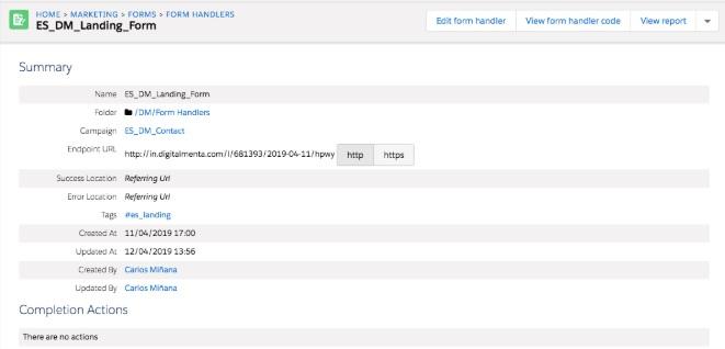 Instalación de formularios Pardot en WordPress