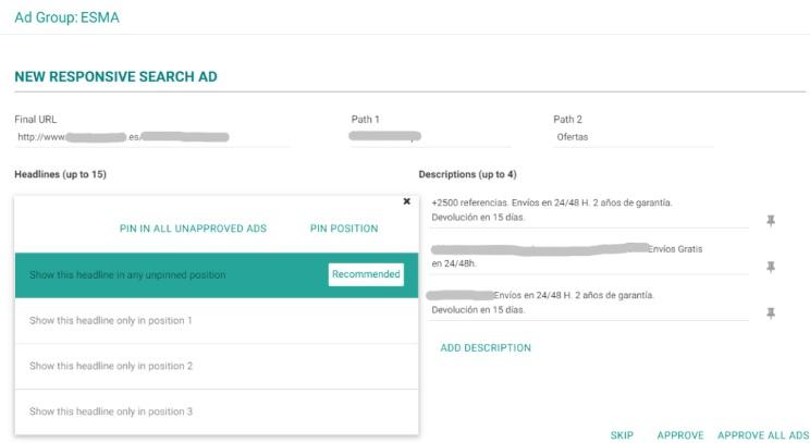 Responsive Search Ads, una herramienta de Optmyzr