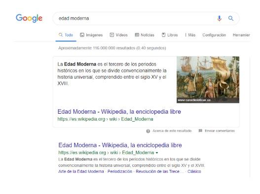 Posición cero en los resultados de búsqueda