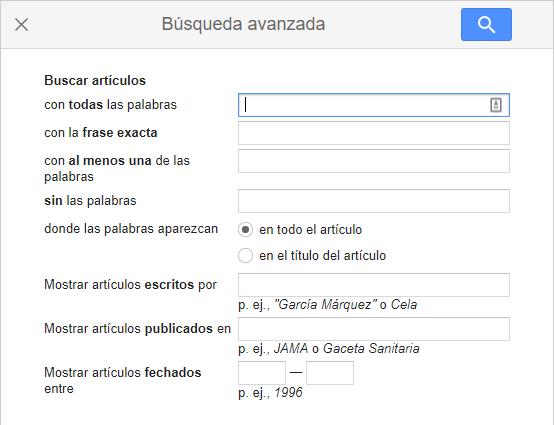 Google Academico Busqueda Avanzada